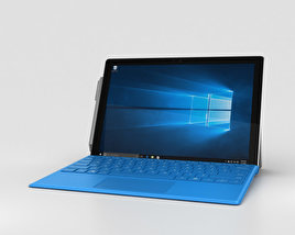 3D model of Microsoft Surface Pro 4 Bright Blue
