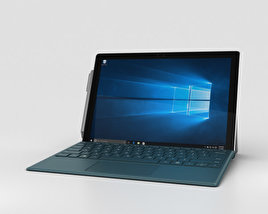 3D model of Microsoft Surface Pro 4 Teal