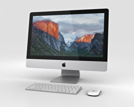 3D model of Apple iMac 21.5-inch