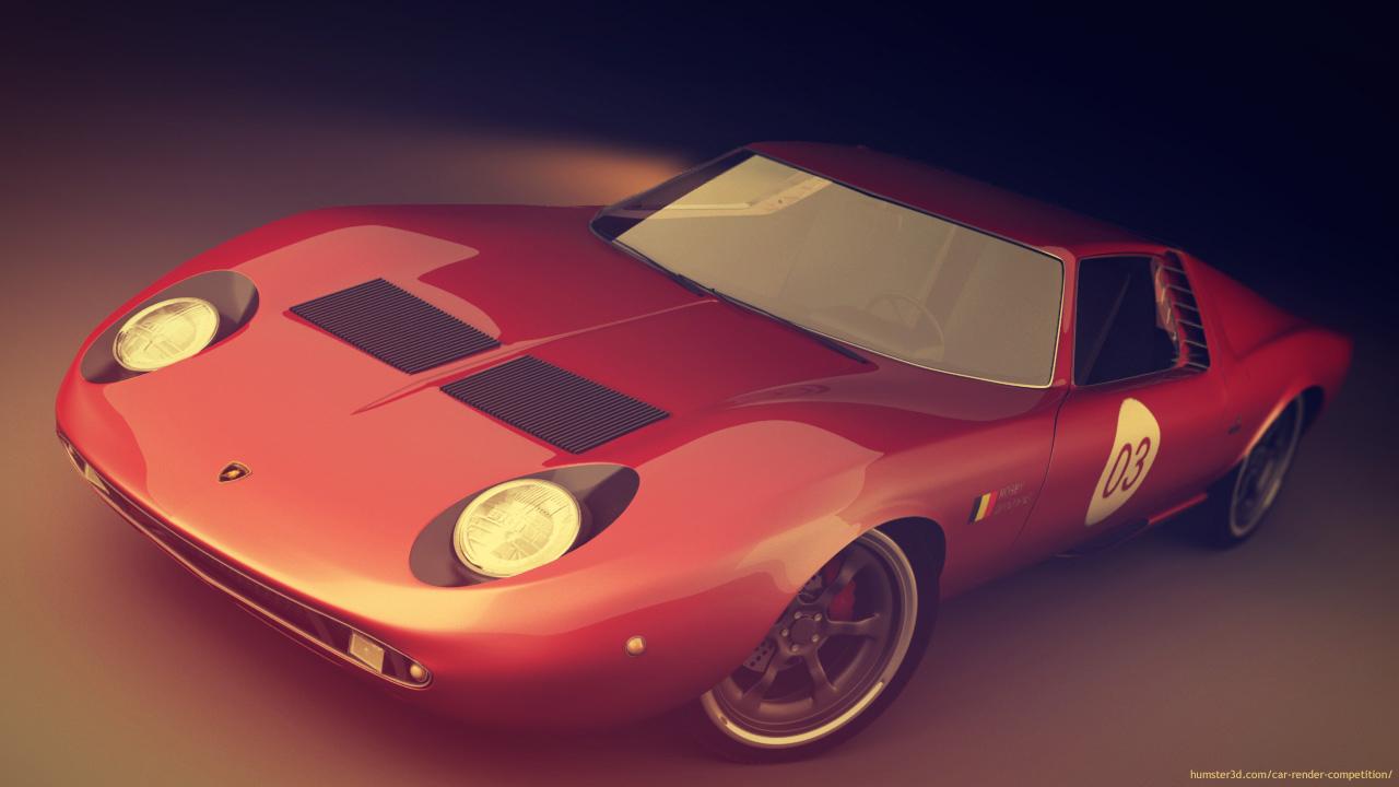Lamborghini Miura 3d art