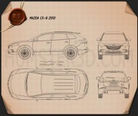 Mazda CX-9 2013 Blueprint