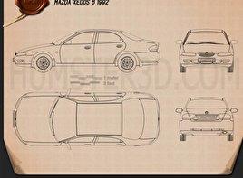 Mazda Xedos 6 (Eunos 500) 1992 Blueprint