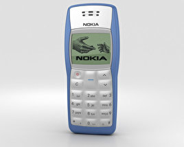 3D model of Nokia 1100 Blue