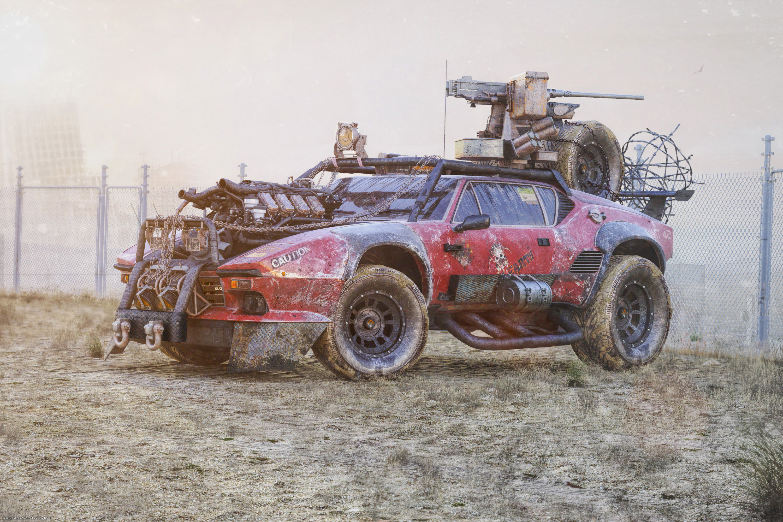 Post Apocalyptic Zombie Hunter 3d art