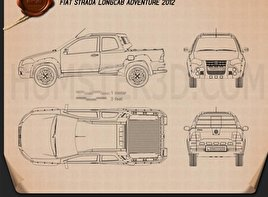 Fiat Strada Long Cab Adventure 2012 Blueprint