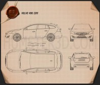 Volvo V60 2011 Blueprint