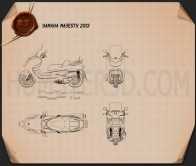 Yamaha Majesty 2013 Blueprint