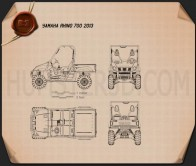 Yamaha Rhino 700 2013 Blueprint