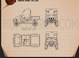 Yamaha Rhino 700 2013 Blueprint