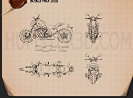 Yamaha VMax 2009 Blueprint