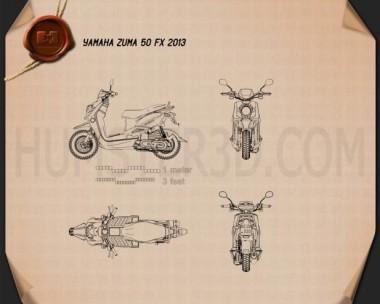 Yamaha Zuma 50 FX 2013 Blueprint