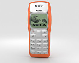 3D model of Nokia 1100 Orange