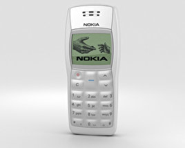3D model of Nokia 1100 White
