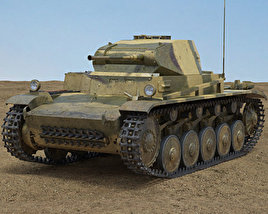 3D model of Panzer II