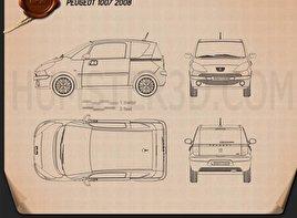 Peugeot 1007 2008 Blueprint