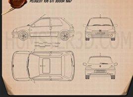 Peugeot 106 GTI 3-door 1997 Blueprint