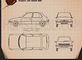 Peugeot 205 5-door 1998 Blueprint