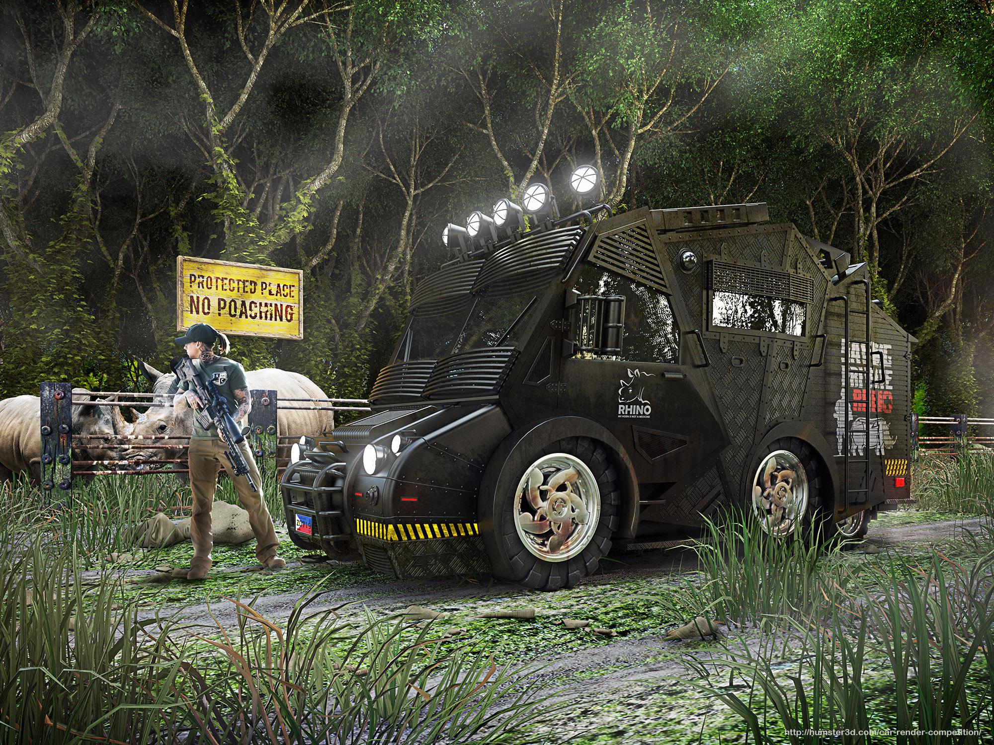 Anti-Poaching Rescue Vehicle 3d art
