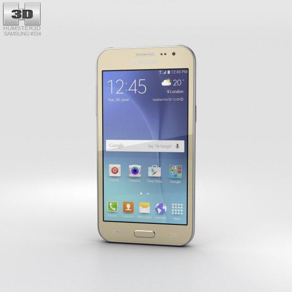 Samsung Galaxy J2 Gold 3D model