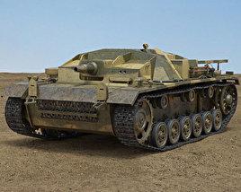 3D model of StuG III