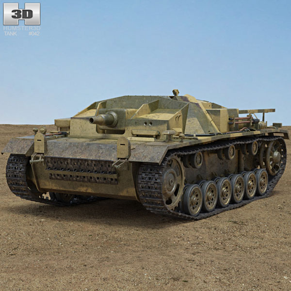 StuG III Modello 3D