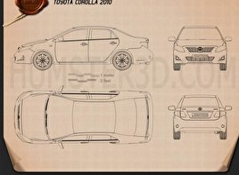 Toyota Corolla 2010 Blueprint