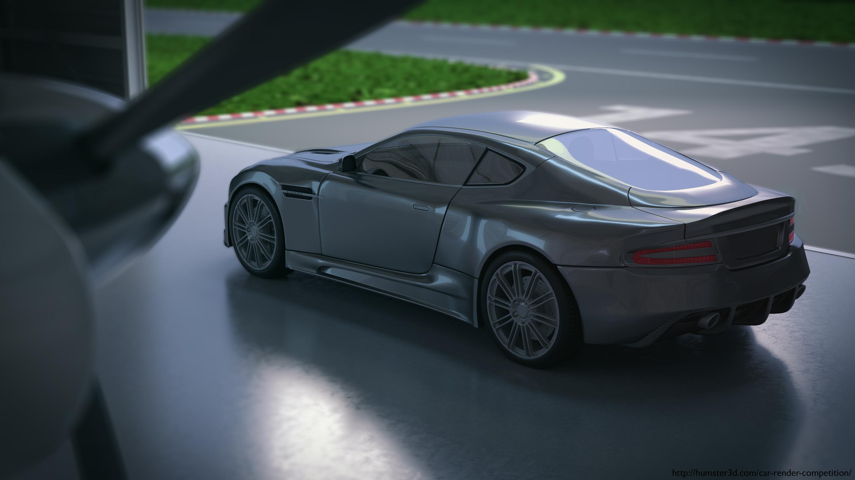 Martin. Aston Martin 3d art