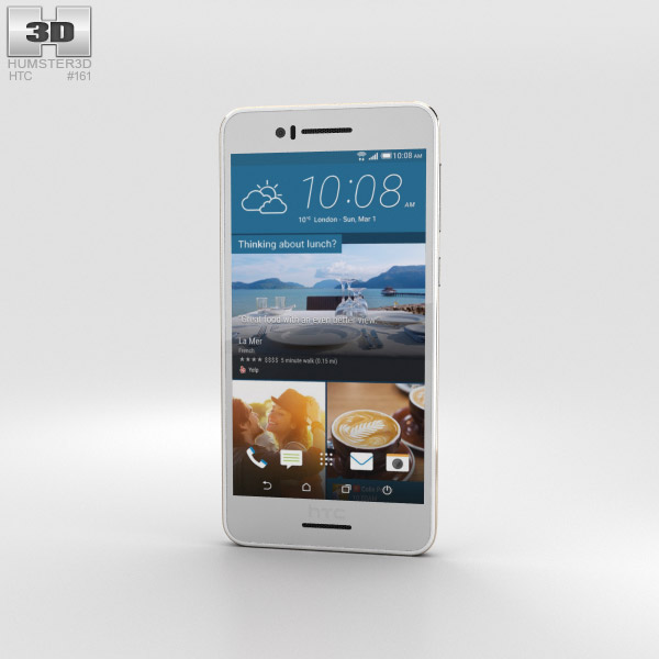 HTC Desire 728 White 3D model