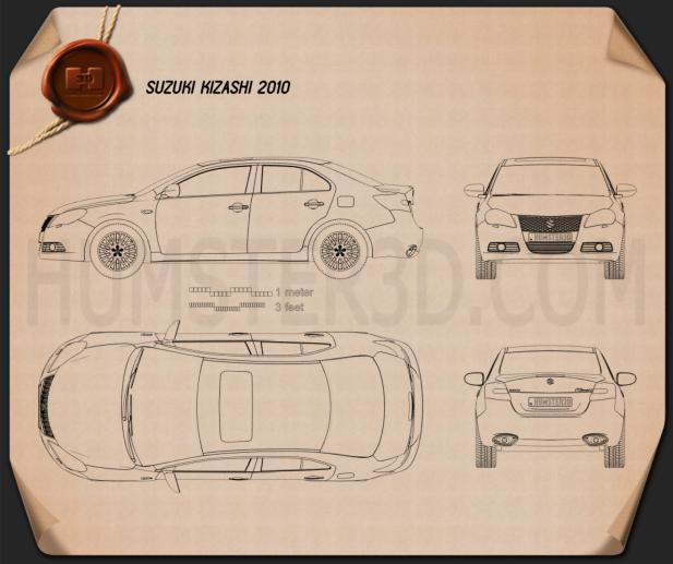 Suzuki Kizashi 2010 Blueprint