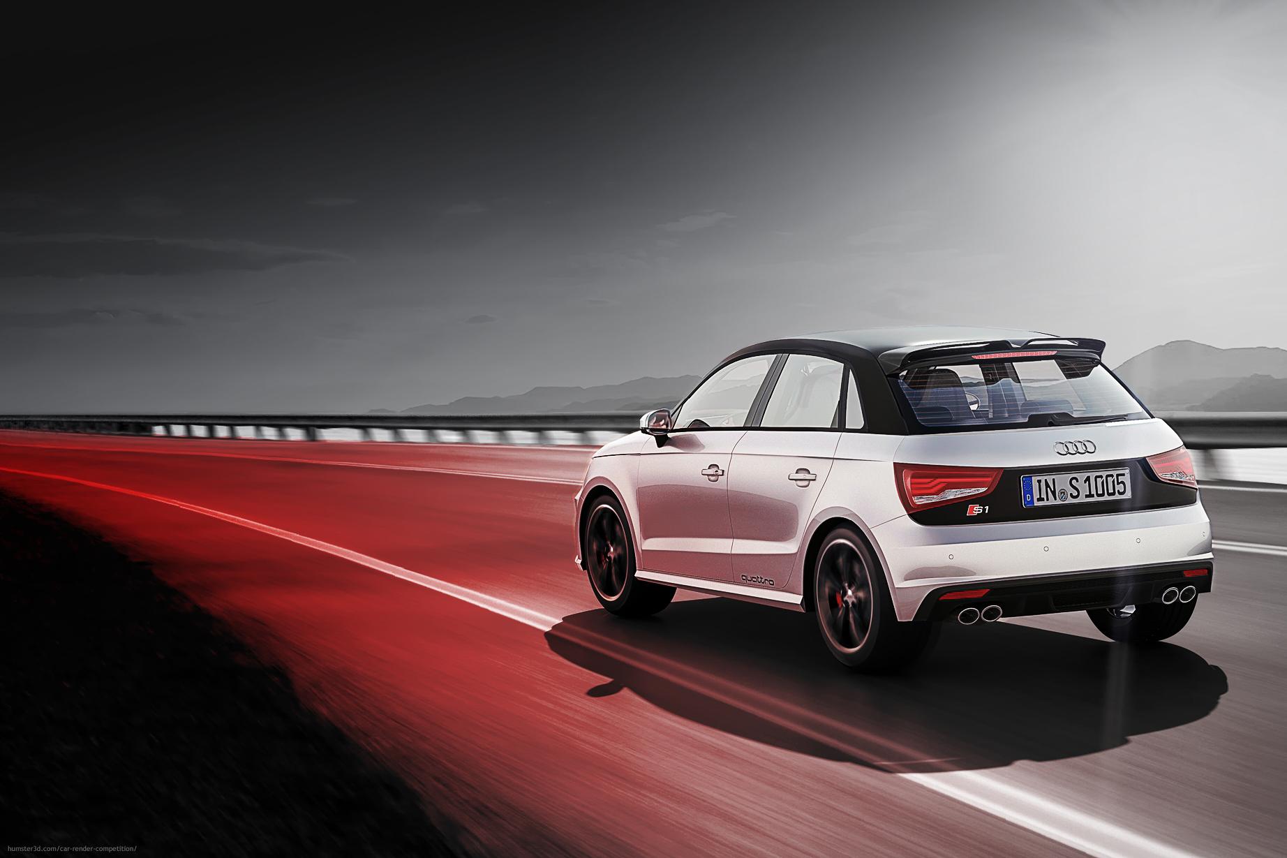 Audi S1 Sportback 3d art