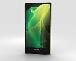 Sharp Aquos Compact SH-02H Yellow/Silver 3D model