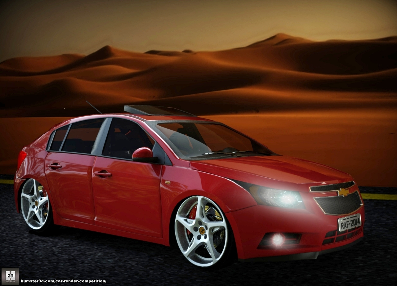 Chevrolet Cruze Hatch in the desert 3d art