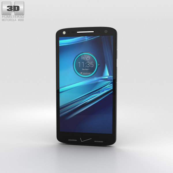 Motorola Droid Turbo 2 Black-Pebble Leather 3D model