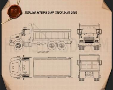 Sterling Acterra Dump Truck 2002 Blueprint