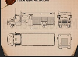 Sterling Acterra Fire Truck 2002 Blueprint