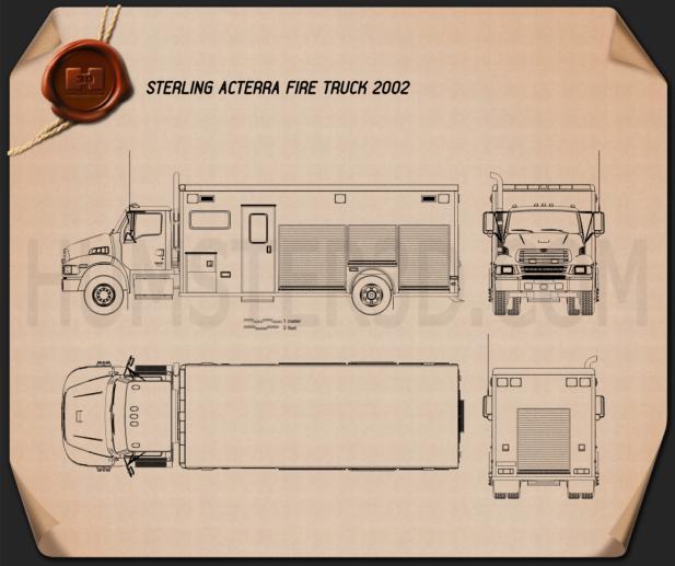 Sterling Acterra Fire Truck 2002 Blueprint