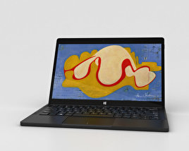 3D model of Dell XPS 12 2-in-1 Laptop