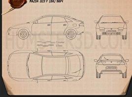 Mazda 323 (Familia) 1994 Blueprint