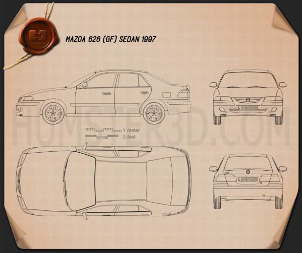 Mazda 626 (GF) 轿车 1998 蓝图