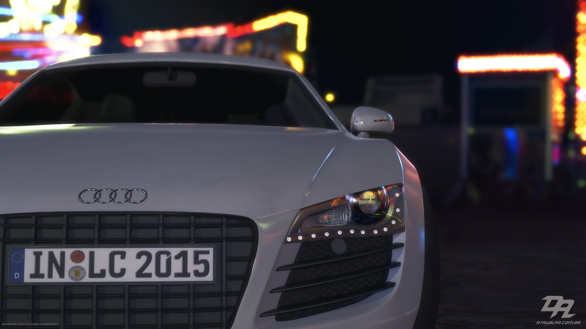 Audi R8 in Real Time 3d art