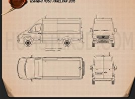 Hyundai H350 Panel Van 2015 Blueprint