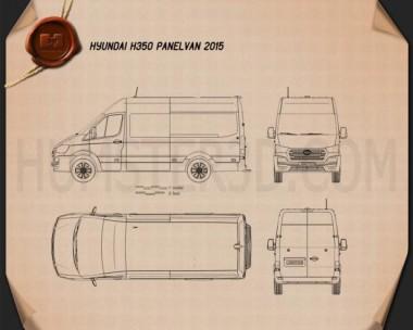 Hyundai H350 Panel Van 2015 Blueprint