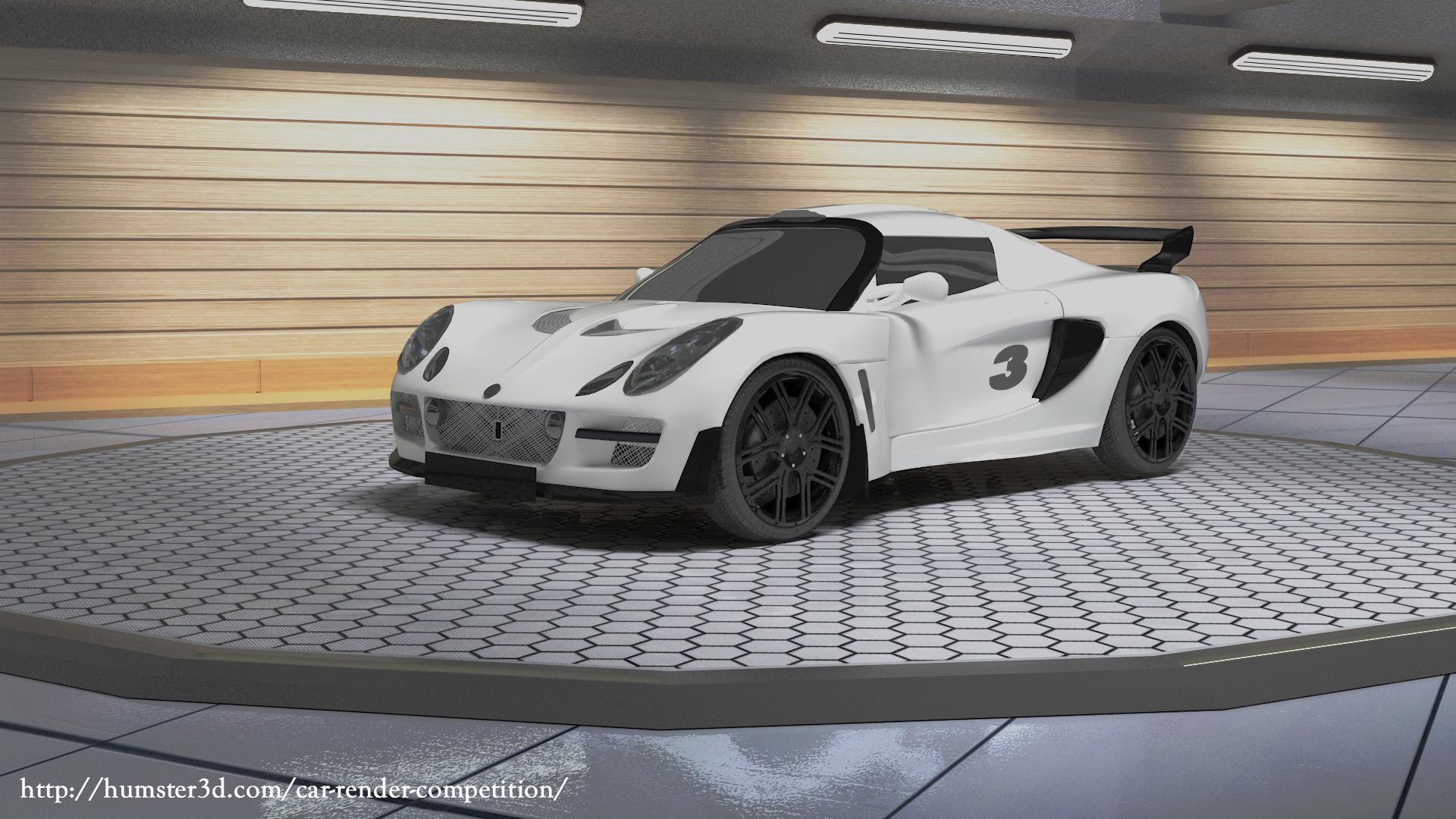 Lotus Exige Escura 3d art