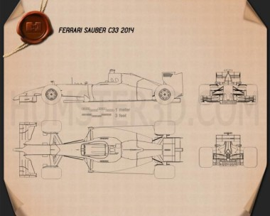 Sauber C33 2014 Blueprint