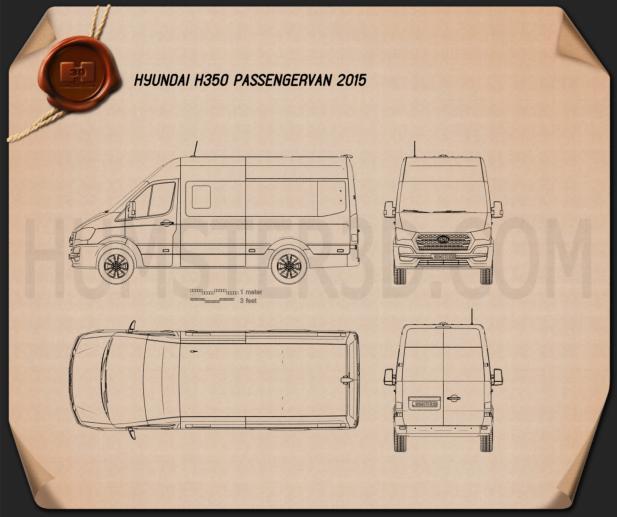 Hyundai H350 Passenger Van 2015 Blueprint