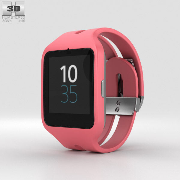 3D model of Sony SmartWatch 3 SWR50 Pink