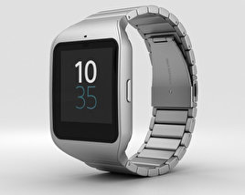 3D model of Sony SmartWatch 3 SWR50 Steel