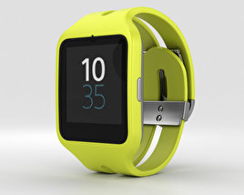 3D model of Sony SmartWatch 3 SWR50 Yellow