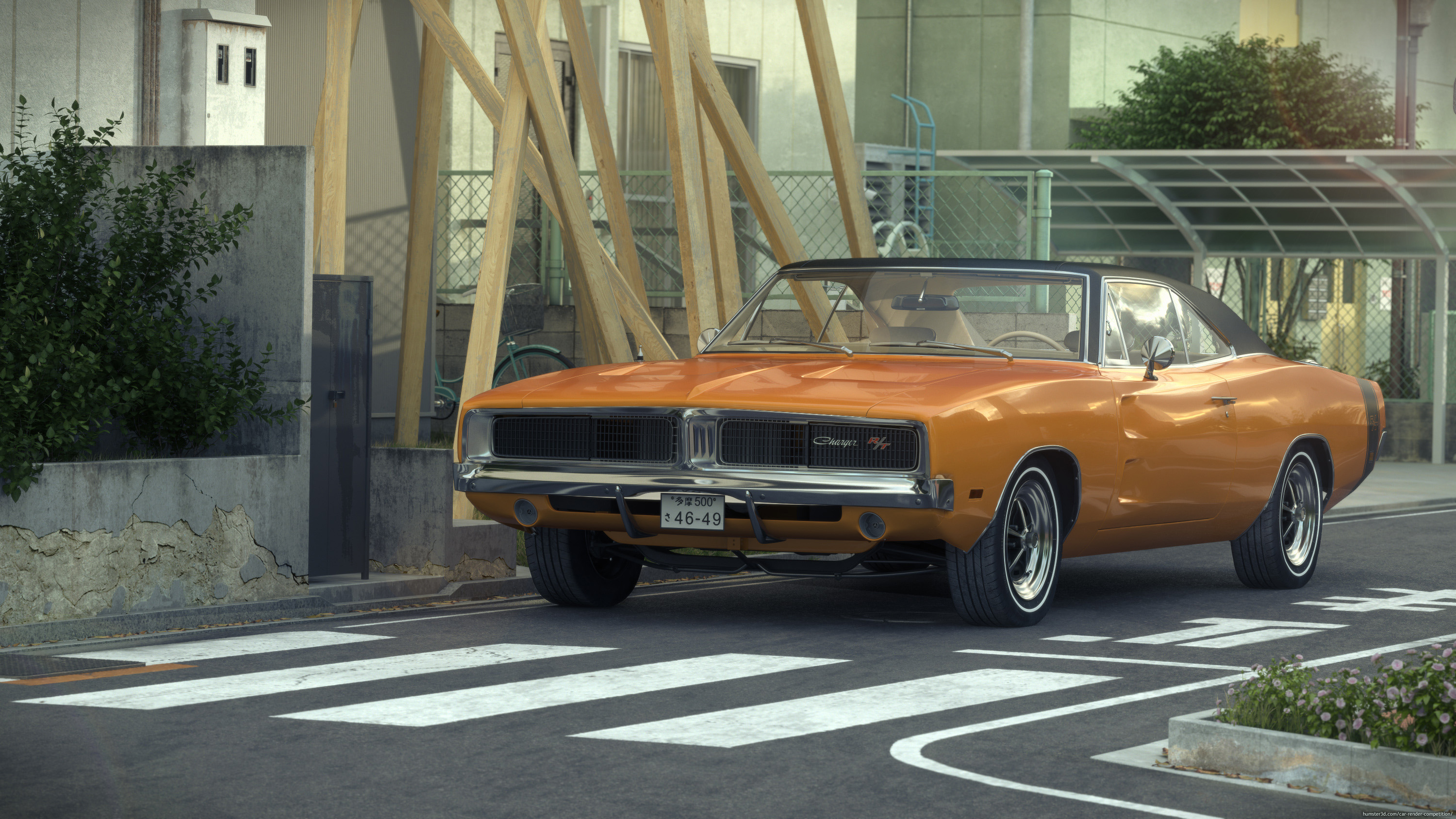 Dodge Charger 1969 RT in Japan 3d art