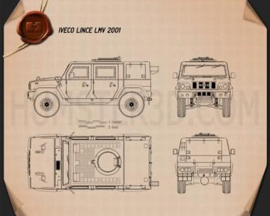 Iveco LMV (Lince) 2001 Blueprint